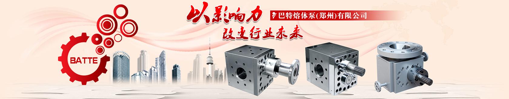 高起点高标准打造巴特熔体泵国际品牌