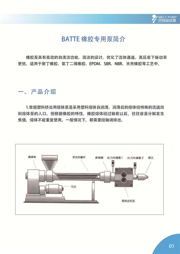BATTE 橡胶专用泵简介